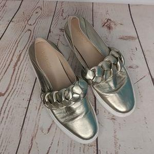 Rachel Zoe Braided Slip On Sneakers